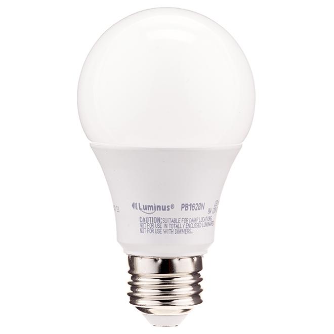 Ampoule DEL A19 9 W, intensité non réglable, blanc ch. 8/pqt