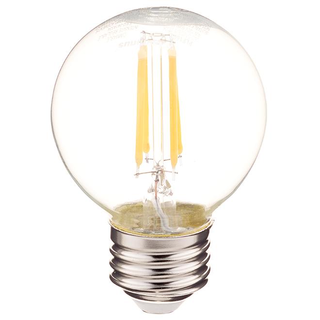 Ampoule DEL, G16 E26, 4 W, blanc chaud