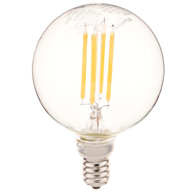 Ampoule DEL, G16 E12, 4 W, blanc chaud