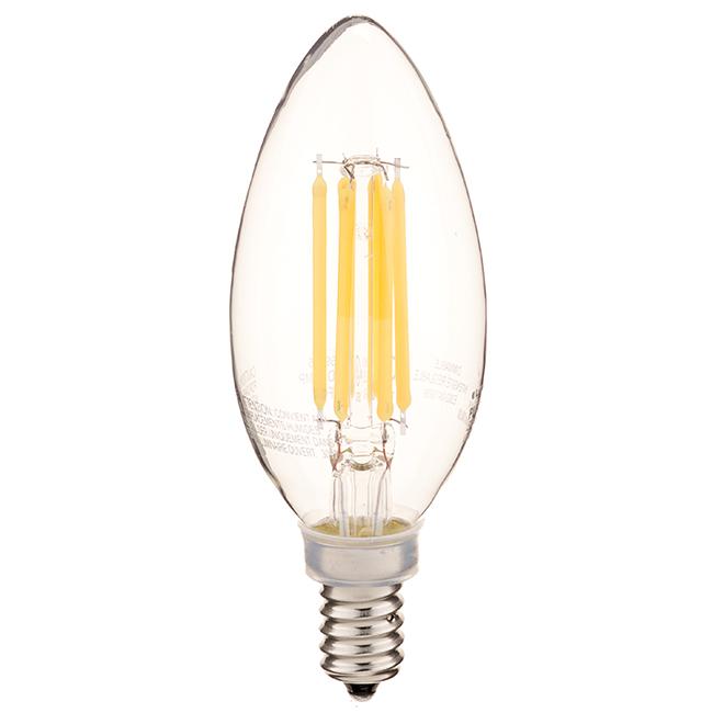 Ampoule DEL, B10-E12, blanc chaud