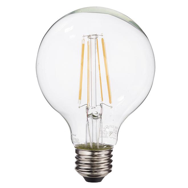 Ampoule DEL G25 7,5 W, intensité variable, blanc chaud