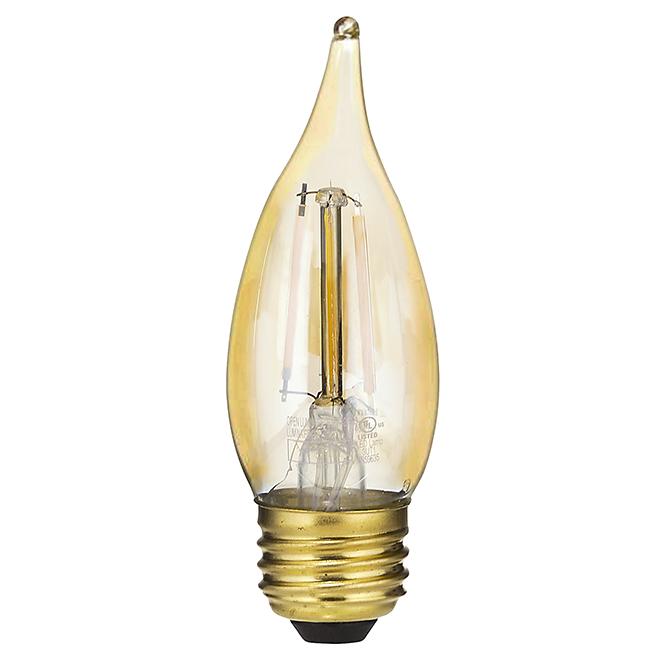 Ampoule DEL B11 4,0 W rétro, intensité variable, blanc chaud