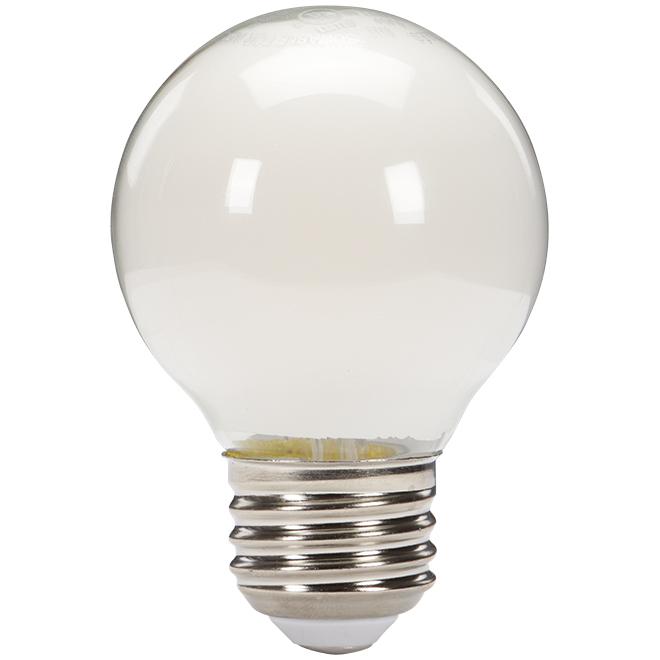 Ampoule DEL G16 givrée de 4,5 W, 350 lumens, blanc chaud