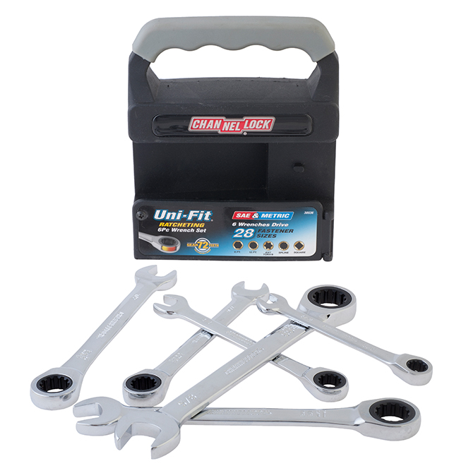 Ratcheting Wrench Set - SAE - 6 Pieces