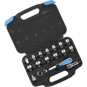 Channellock Socket Set SAE/Metric - 16 Pieces