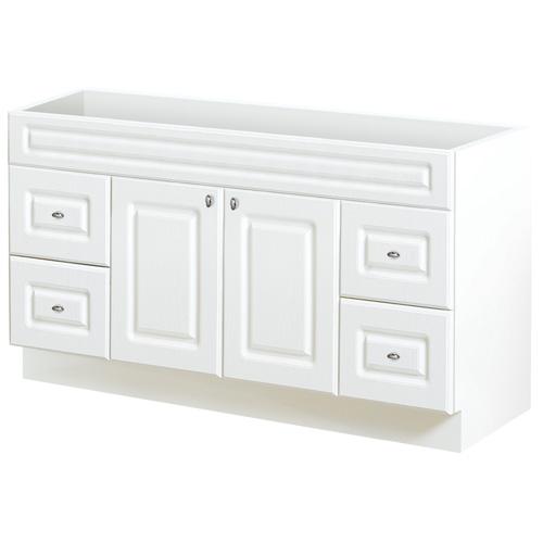 Meuble-lavabo à 2 portes et 4 tiroirs