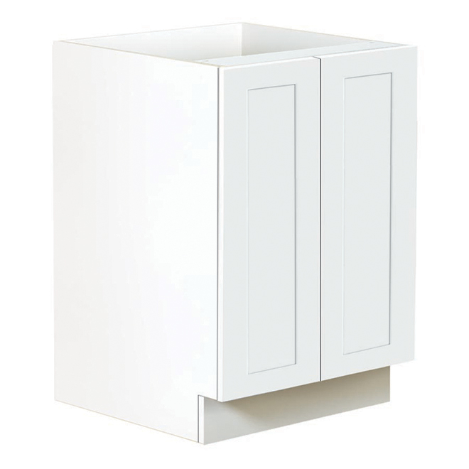 Ebsu 2-Door Lower Kitchen Cabinet - White TLB24-BLSD