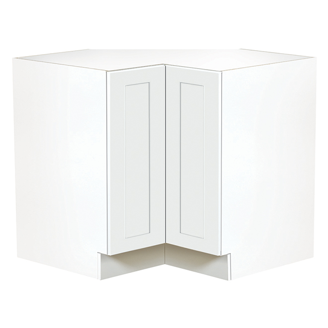 Ebsu Corner Kitchen Cabinet - 1 Door - 36 - White TLBC36-BLSD