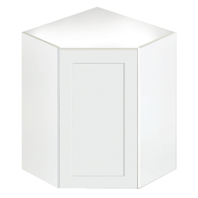 San Diego 1-Door Corner Kitchen Cabinet - White