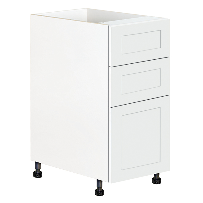 "Eklipse Base Cabinet with Drawers - Perle - 15 1/8"" x 34 3/4"""