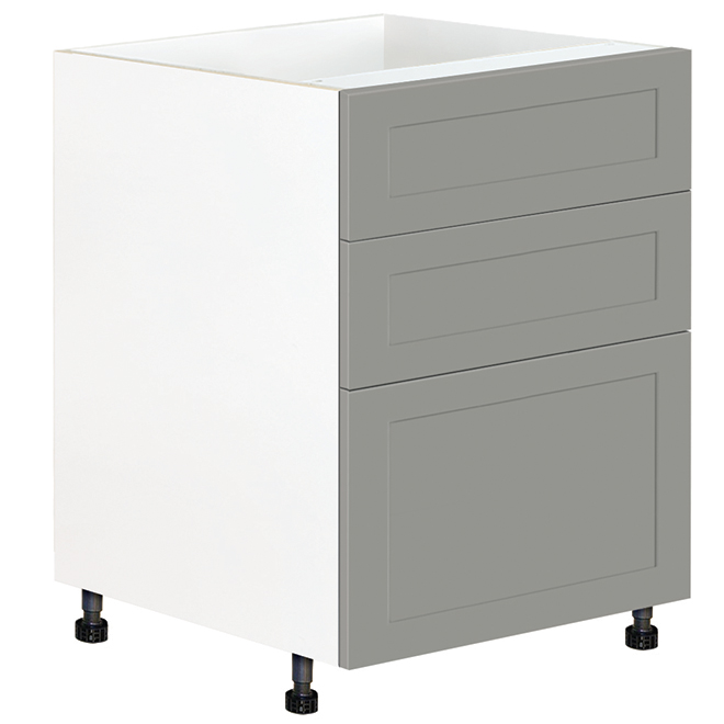 "Eklipse Base Cabinet with Drawers - Angelite - 23 15/16"" x 34 3/4"""
