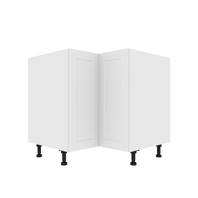 """Eklipse Corner Base Cabinet - Perle - 36 1/4"""" x 34 3/4"""""""