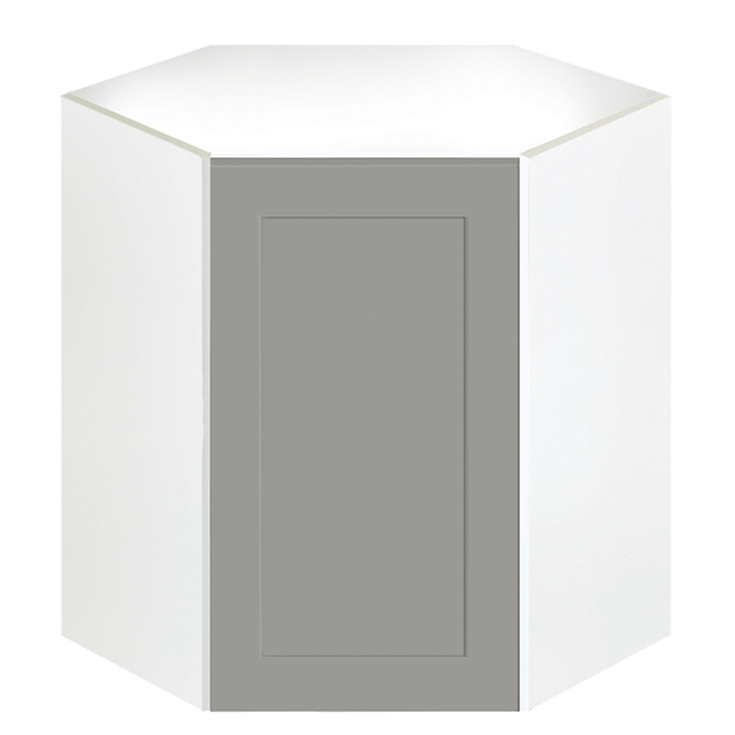 "Corner Wall Cabinet - Eklipse Collection - Angelite - 24 1/4"" x 30 1/4"""