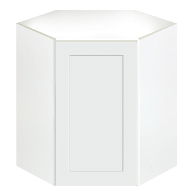 "Eklipse Corner Wall Cabinet- Perle - 24 1/4"" x 30 1/4"""
