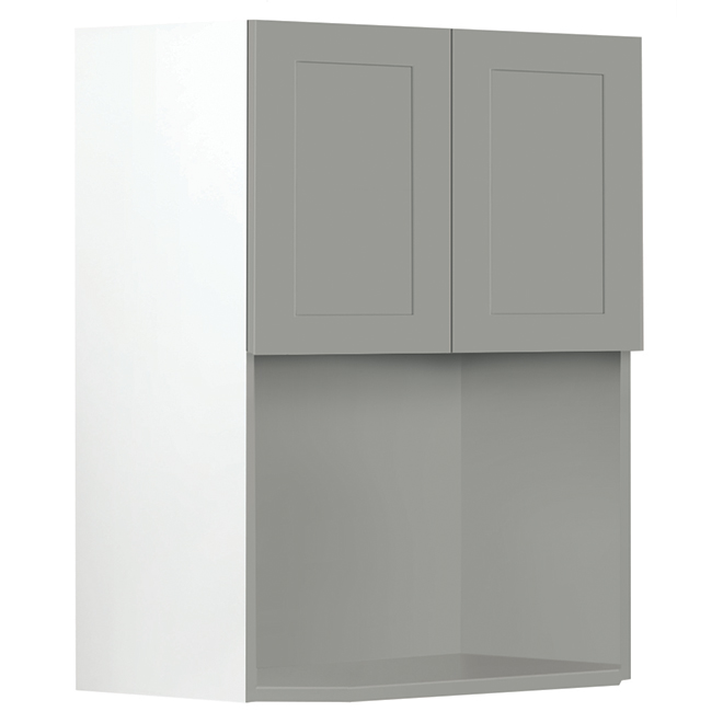 "Microwave Cabinet - Eklipse Collection - Angelite -23 15/16"" x 30 1/4"""