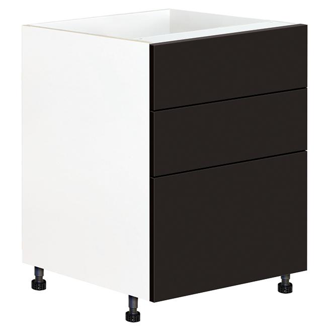 """Armoire module du bas à tiroirs, 23 15/16"""" x 34 3/4"""", Onyx"""