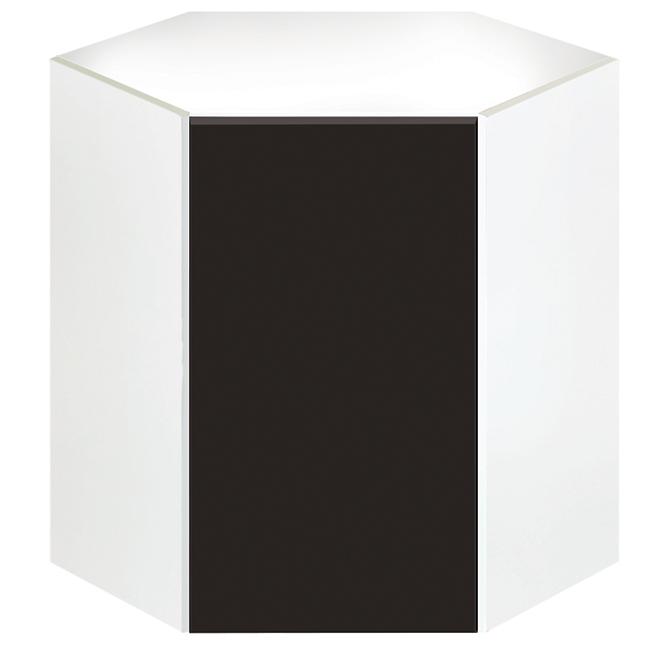 "Eklipse Corner Wall Cabinet - Onyx - 24 1/4"" x 30 1/4"""