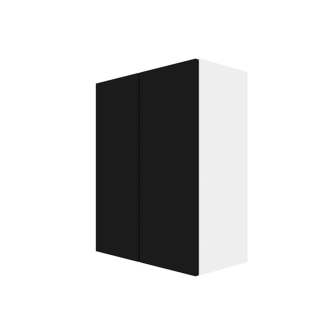 "Wall Cabinet - Eklipse Collection - Onyx - 23 15/16"" x 30 1/4"""