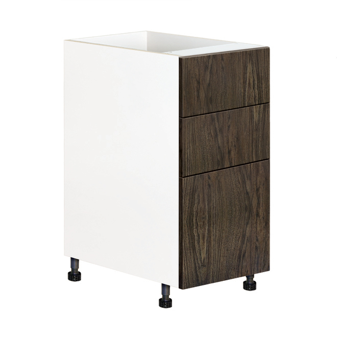 """Armoire module du bas à tiroirs Eklipse, Saphir, 15 1/8"""" x 34 3/4"""""""