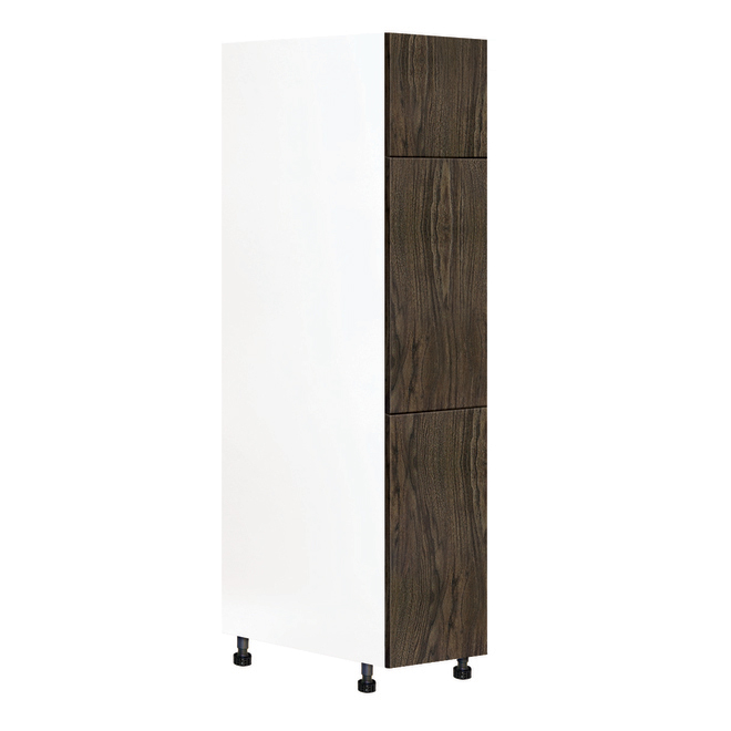 Module de garde-manger Eklipse, 3 portes, polymère, 15 po x 84 po, grain de bois