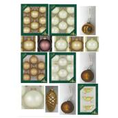 Ensemble de décorations de Noël rondes en verre, assorties