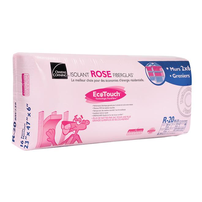 Isolant ROSE FIBERGLAS® EcoTouch® R-20