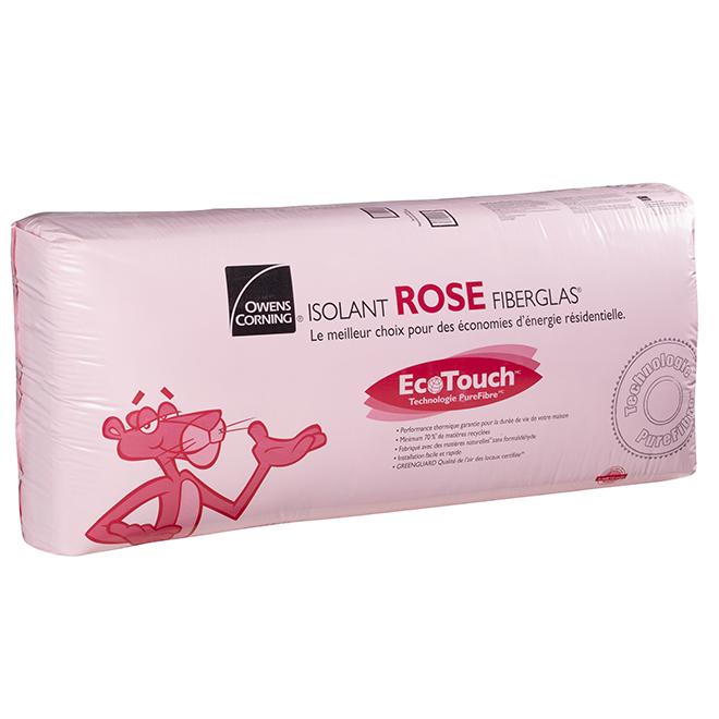 Isolant ROSE FIBERGLAS® R-12, 11'' x 48'', 146,7 pi/²