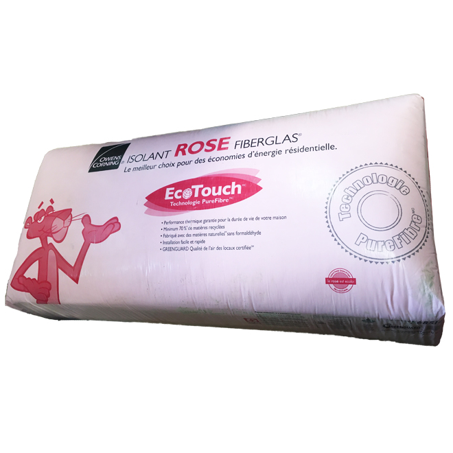 Isolant ROSE FIBERGLAS® R-24, 23'' x 48'', 53 pi/²
