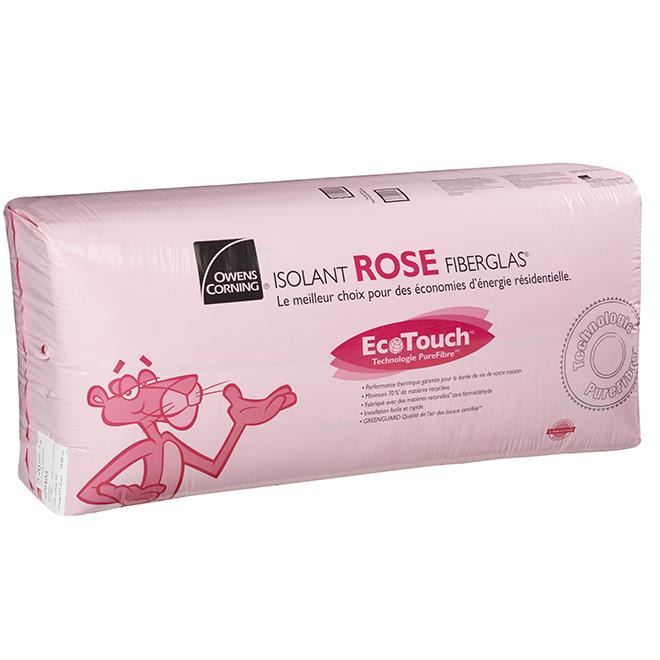 Isolant ROSE FIBERGLAS® R-20, 117,3 pi/²