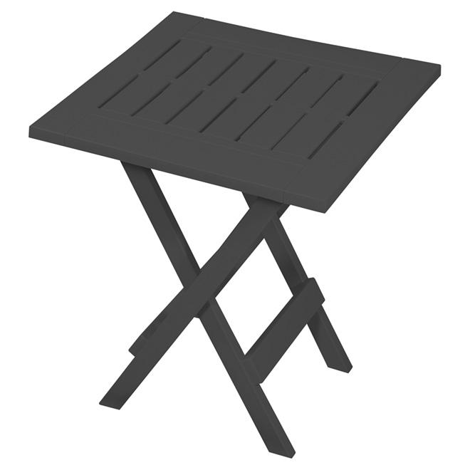 Gracious Living Side Table - Folding - Resin - Grey