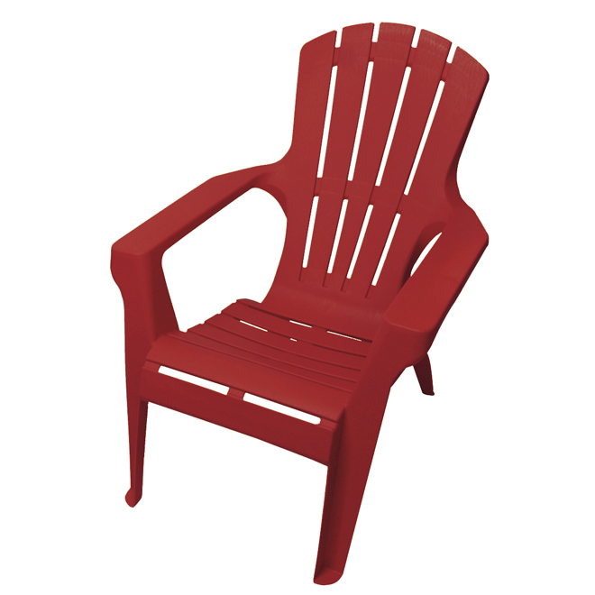 Gracious Living Adirondack Stackable Chair - Resin - Red