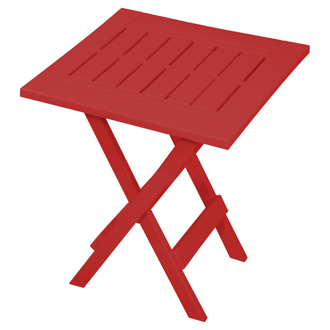 Table d'appoint Adirondack Gracious Living, pliante, résine, rouge