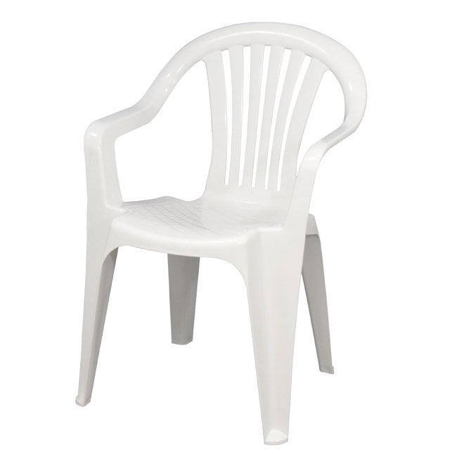 Chaise en résine empilable Caymen, blanc