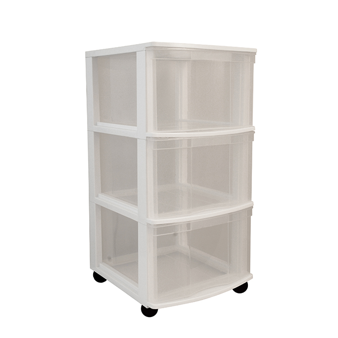3-Drawers Storage Tower - White/Clear  sc 1 st  RONA & 3-Drawers Storage Tower - White/Clear | RONA