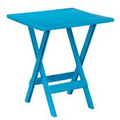 Patio Side Table - Adirondack - Folding - 19 in x 19 in - Teal