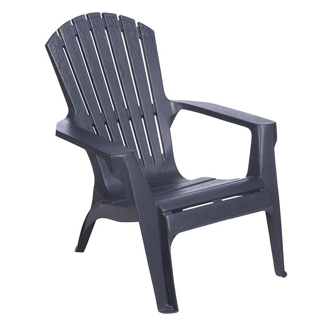 Chaise Adirondack en résine, gris mat