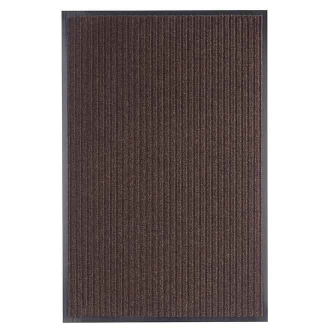 Tapis intérieur et extérieur, 2' x 3', brun