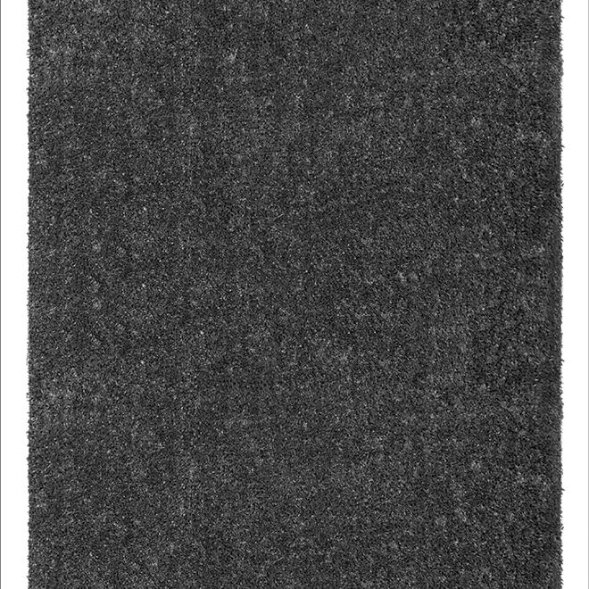 Tapis de gazon, 12' de largeur, gris