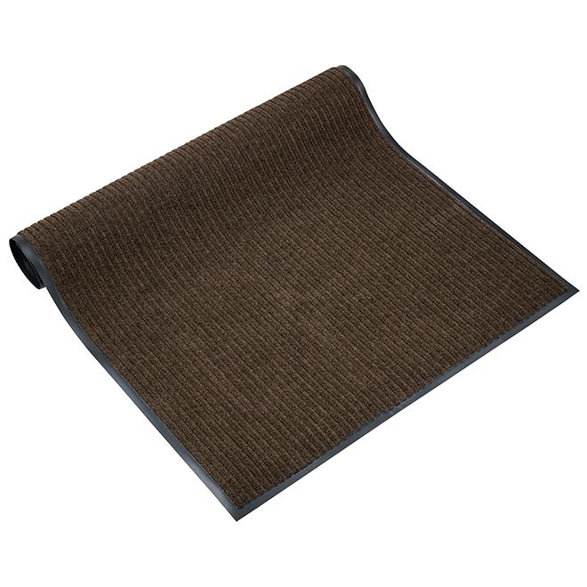 Carpette commerciale, 3' X 4', polyester, brun