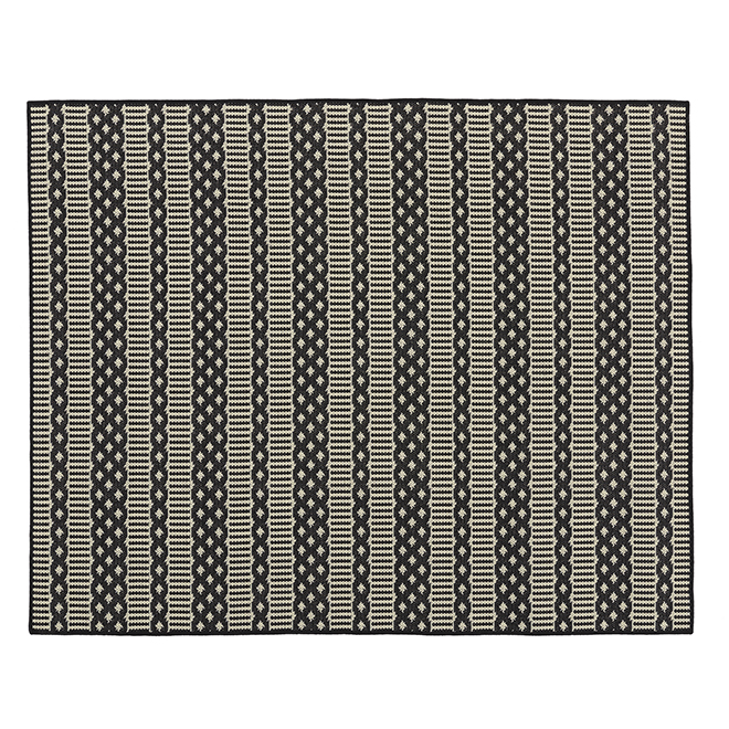 Tapis d'intérieur ou d'extérieur Fresco, 5' X 7', noir/ivoire