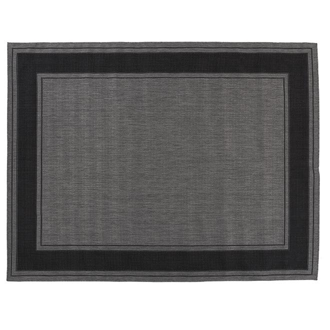 Tapis d'intérieur ou d'extérieur Fresco, 8' X 10', gris/noir
