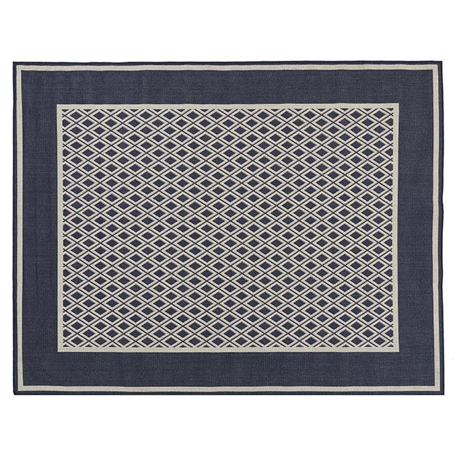 Fresco Indoor or Outdoor Mat - 8' X 10' - Black/Cream MT1004603