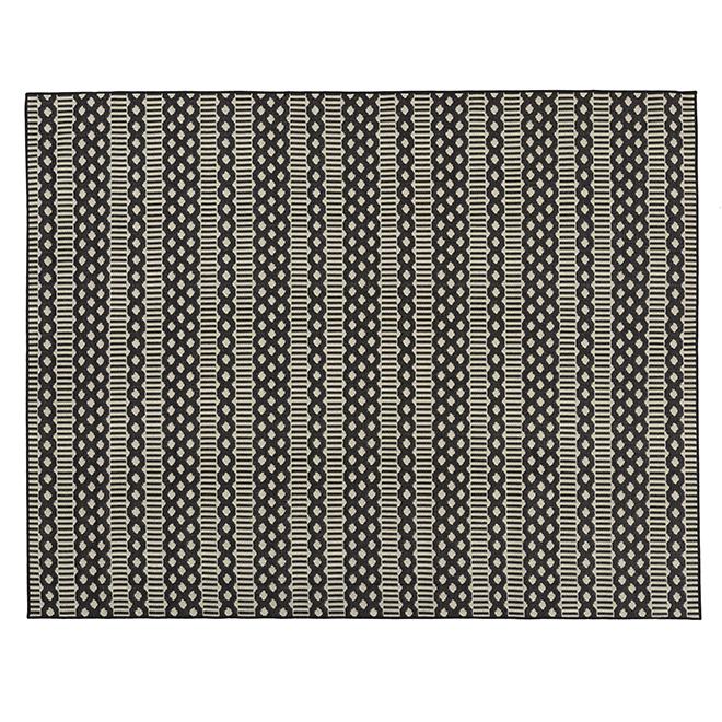 Fresco Indoor or Outdoor Mat - 8' X 10' - Black/Ivory MT1004605