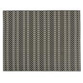 Fresco Indoor or Outdoor Mat - 8' X 10' - Black/Ivory
