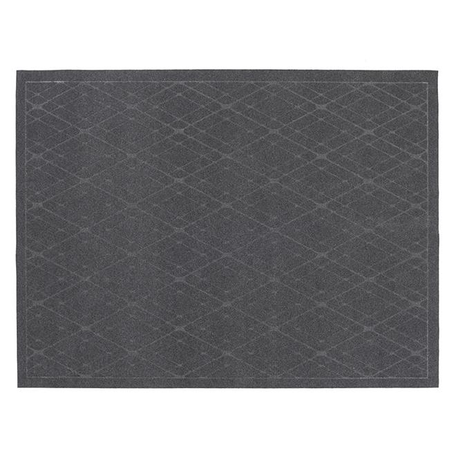 Tapis d'intérieur, modèle « Impression », 6' X 8', graphite