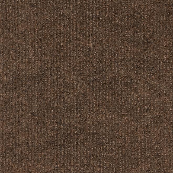 """Tapis d'intérieur/extérieur, 12"""" x 100', brun"""
