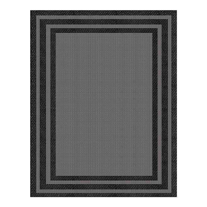 Tapis Fresco Baron, gris et noir, 5' x 7'