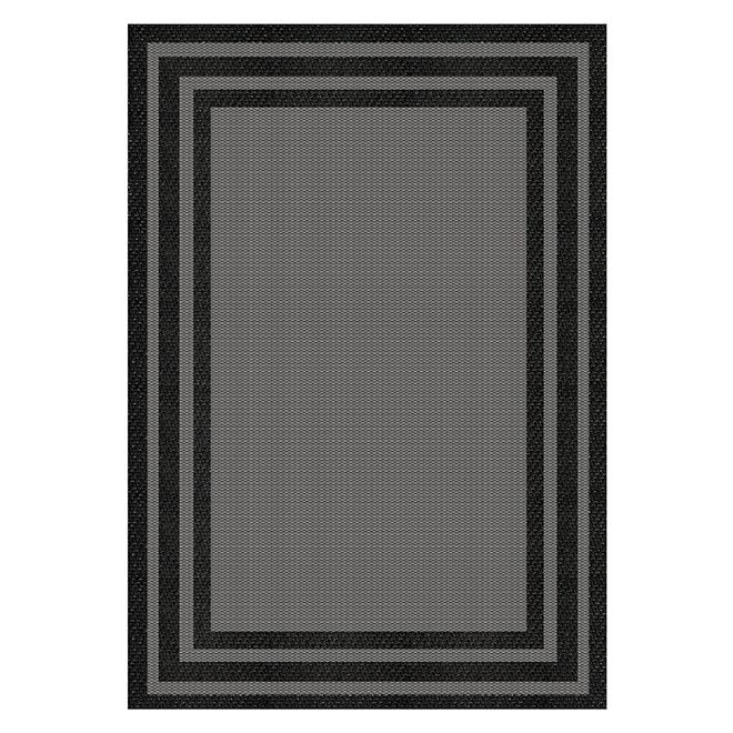 Fresco Baron Carpet - Grey and Black - 8' x 10'