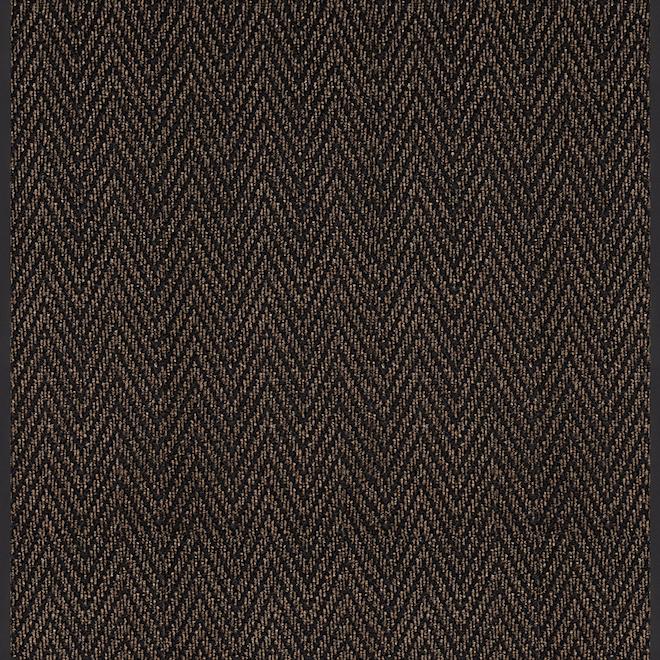 Runner ''Herrington'' - Polyester - 36'' x 35' - Brown