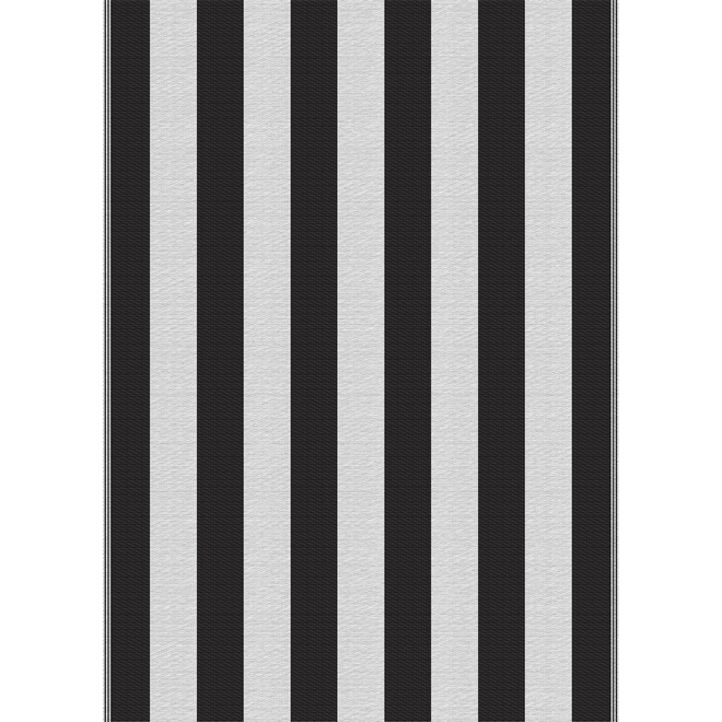 Multy Home Polyester Carpet - Cabana - 5-ft x 7-ft - Black and White